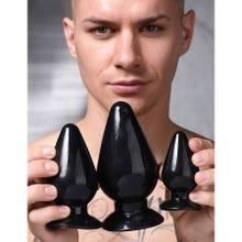 Master Series - Triple Cones 3 Piece Anal Plug Set black