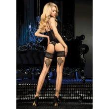 Ballerina Art. 453 Halterlose Strümpfe 20den schwarz/skin