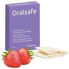 MEDintim ORALsafe Latex-Tücher Erdbeere 8Stk. Lecktücher