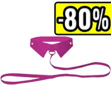 - OUCH Classic Collar with Leash pink SUPERSALE