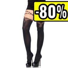 - Leg Avenue Lock and Key opaque Pantyhose black Gr.S-L SUPERSALE