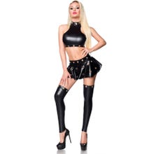 Saresia Wetlook-Outfit black