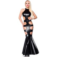 Saresia Wetlook-Kleid Mermaid black