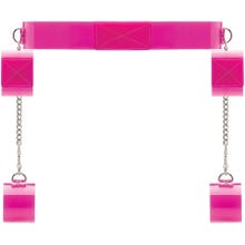 Bad Romance - Pink Translucent Bondage Belt with Velcro pink SUPERSALE