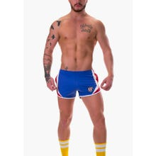 Barcode Short Sniper Tom Laboratory blue-white-red Gr.S   SUPERSALE