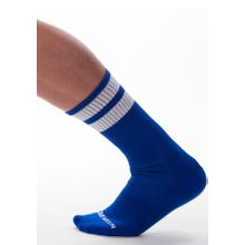 Barcode Gym Socks royal-white