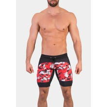 Barcode Short Michail black-red-white|SUPERSALE