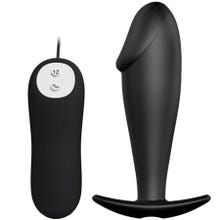 10 x 3 cm Pretty Love - Special Anal Stimulation Silicone with Vibrations Plug black