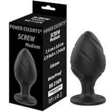 7,4 x 3,6 cm Power Escorts Screw Plug medium black