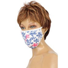 Community-Maske - Passion Cotton Cover Mask white/blue/pink SUPERSALE