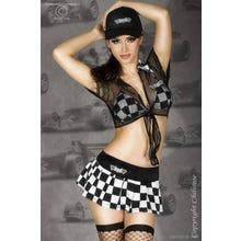 Chilirose Racing Girl Erotik-Kostüm in schwarz/weiß