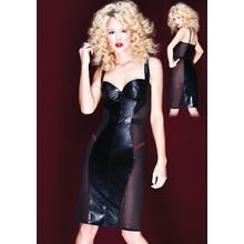 Kleid Coquette Darque see-through black SUPERSALE