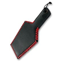 HardcoreDeLuxe - Leather Paddle Wide Heavy Grain black/red 35 cm