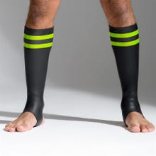Neoprene Socks black/green tall - Unisize - S - L