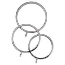 ELECTRASTIM - Solid Metal Cock Ring Set 3 Sizes