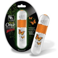 11,4 x 3,2 cm B3 Onye Galerie Butterfly Vibrator weiss/orange SUPERSALE