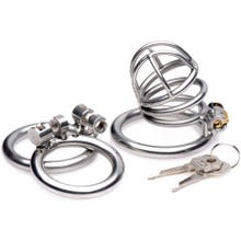 Master Series - The Pem Deluxe Stainless Steel Locking Chastity Cage
