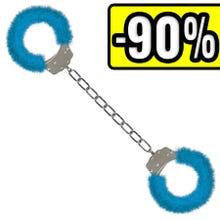 Furry Ankle Cuffs blue - Fußschellen - SUPERSALE
