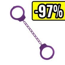 Metal Ankle Cuffs purple - Fußschellen lila - SUPERSALE