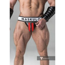 MASKULO - Fetish Jockstrap - Detachable codpiece - Black/Red