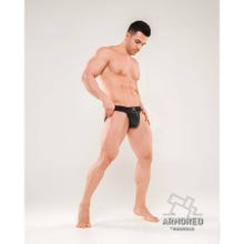MASKULO - Armored Next Mens Fetish Jock Strap - Black/Black