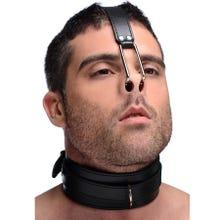 Master Series - Collar with Nose Hook - Halsband mit Nasenhaken - black/silver