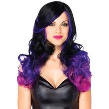 Perücke Multi Color Wig black/purple