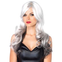 Perücke Multi Color Wig grey/black