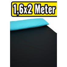 ORGY-Spannbettlaken Schwarz 1,6 x 2 m