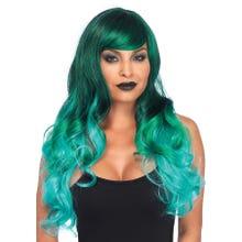 Perücke Ombre Jewel Long Wavy Wig green