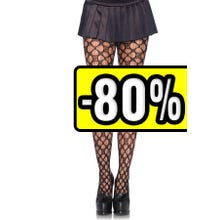 -      Leg Avenue Lucky You Clover Net Pantyhose black Gr.S-L SUPERSALE