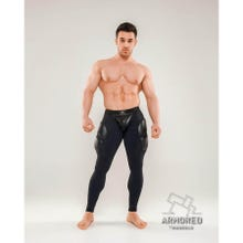 MASKULO - Armored Next Mens Fetish Leggings - Black/Black