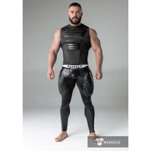 MASKULO - Fetish Meggins - Codpiece - Zipped rear- Pads - Black | SUPERSALE