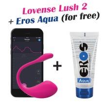 Lovense Lush 2.0 Bullet Vibrator pink - Akku Power - inkl. Gratis Gleitgel