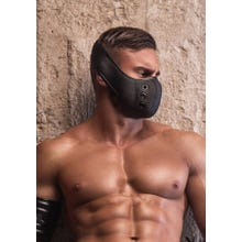MASKULO - Leather-look Mask (Muzzle) - Black