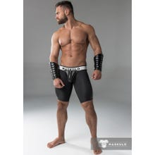 MASKULO - Fetish Short - Detachable codpiece - Black/Black | SUPERSALE