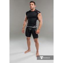 MASKULO - Fetish Tanktop - Shoulder Pads - Black | SUPERSALE