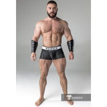 MASKULO - Trunks - Rubber Look - Detachable codpiece - Black | SUPERSALE