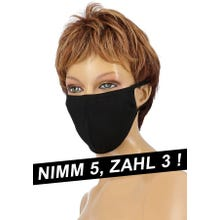 Community-Maske - Passion Cotton Cover Mask black SUPERSALE