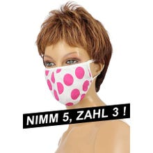 Community-Maske - Passion Cotton Cover Mask pink/white SUPERSALE