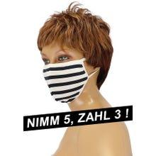 Community-Maske - Passion Cotton Cover Mask white/black SUPERSALE
