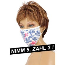 Community-Maske - Passion Cotton Cover Mask white/blue/pink SUPERSALE