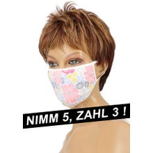 Community-Maske - Passion Cotton Cover Mask white/blue/pink/yellow SUPERSALE