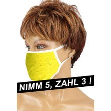Community-Maske - Passion Cotton Cover Mask yellow SUPERSALE
