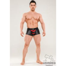 MASKULO - Armored Next Mens Fetish Trunks - black/red