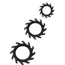 Cockring-Set Silicone Ornament Enhance No. II black