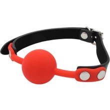 Fetish Dreams Silicone Starter Ball Gag red