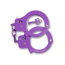 Sex Extra Love Metal Cuffs purple