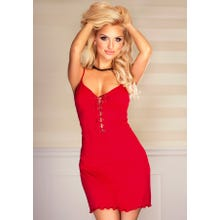 Kalimo Chemise Nachtkleid Tropicana rot Gr.S | SUPERSALE
