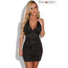 Provocative Mini-Kleid Neckholder schwarz